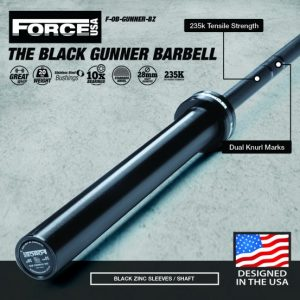 Force USA Gunner Halterstang(Zwart zink) - competition Tested-0