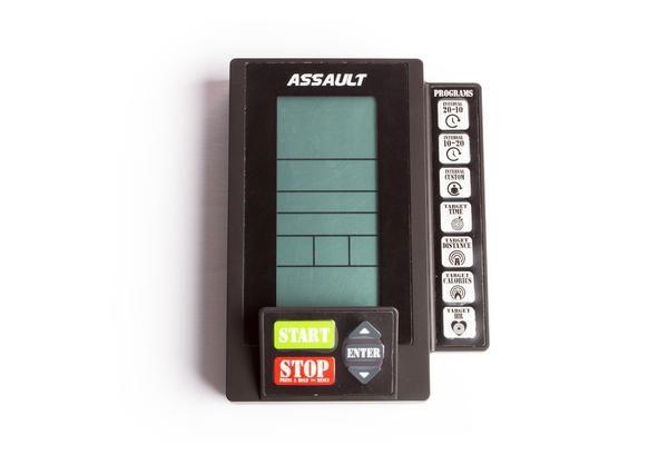 De Assault AirBike Console toont tijdens je workout jouw prestaties.